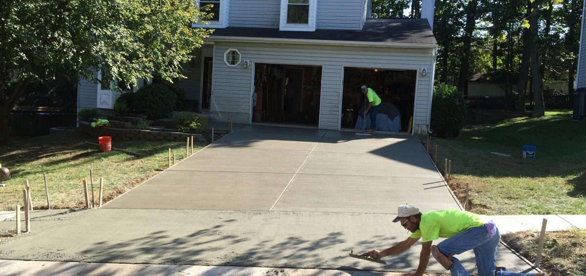 concrete driveway and sidewalk construction - F&M Contractors