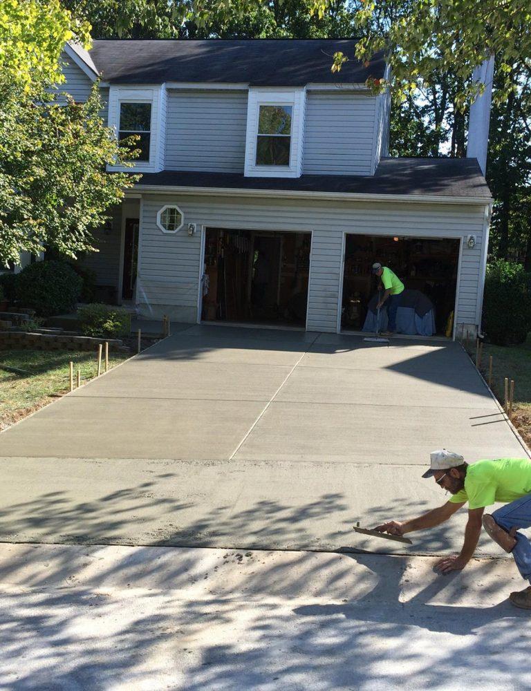 concrete driveway and sidewalk construction - F&M Contractors