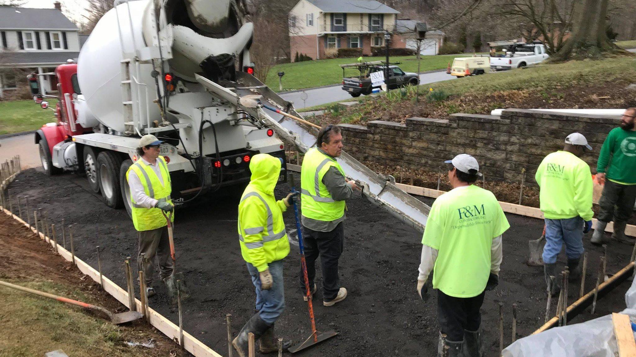 Concrete Driveway - F&M Contractors
