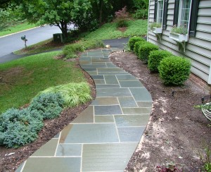 Curved Bluestone Walkway